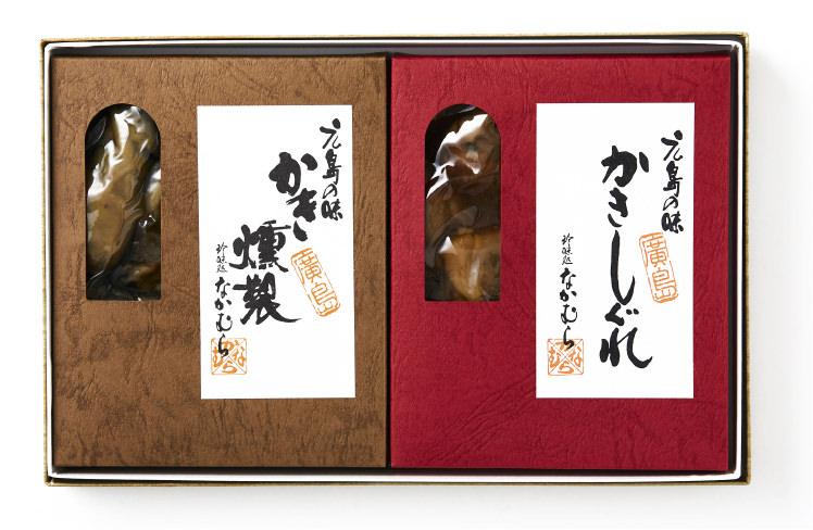 珍味詰合 かき酒のアテセット (かき燻製・かきしぐれ)